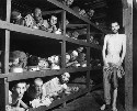 Buchenwald concentration camp. Slave laborers are...