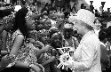 Queen Elizabeth II. The British queen is shown...