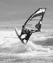 Windsurfer in Dingle Peninsula, County Kerry, in...