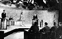 The first televised presidential debates, between...