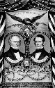 An 1852 Whig Party campaign banner for candidates...