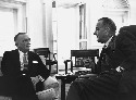 President Lyndon B. Johnson meeting with FBI...