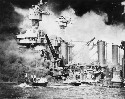 The battleships USS West Virginia (foreground)...