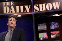 Jon Stewart hosts a half-hour satirical news...