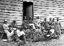 Escaped slaves, who arrived behind Union lines by...