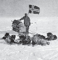 Roald Amundsen and his party planted the...