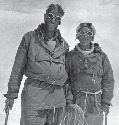 Edmund Hillary of New Zealand (left) and Nepalese...