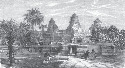 An English engraving of 1868 depicts Angkor Wat,...