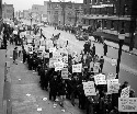 This picket line was part of a strike by the...