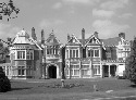 The manor house at Bletchley Park where British...