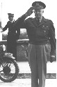 Eisenhower salutes the troops during World War...