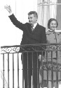 Ceausescu (shown with his wife in the 1970s) used...