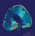 Midway atoll. Image courtesy of DigitalGlobe.