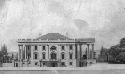 A drawing of the original White House around...