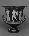 Telephus threatening Orestes with Clytemnestra....
