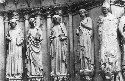Saints, from left west portal, Reims...