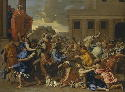 Nicolas Poussin, Rape of the Sabine Women, ca....