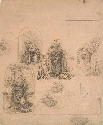 Leonardo da Vinci, Studies for the Nativity,...
