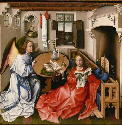 Robert Campin, Annunciation from the Mérode...