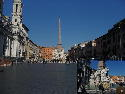 Piazza Navona with inset of Bernini's Four Rivers...