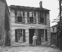 Mark Twain at his childhood home,...