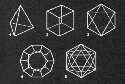 The five regular Platonic solids include (1) the...