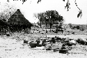 A Masalit village in West Darfur destroyed by...